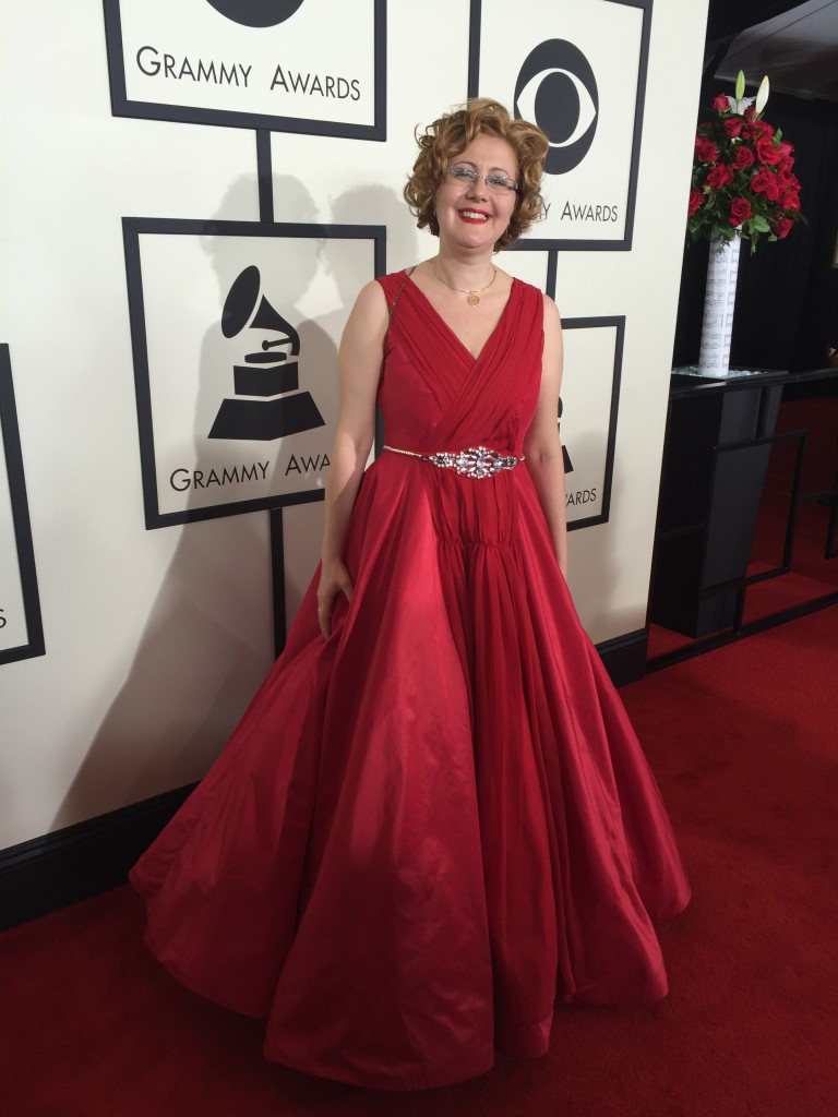 Nadia Shpachenko arriving at the Red Carpet at the 58th Grammy Awards