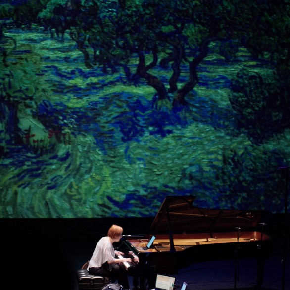 "Nadia Shpachenko performing ""Olive Orchard"" by Adam Schoenberg: Piano Spheres Recital at REDCAT @ Disney Hall"