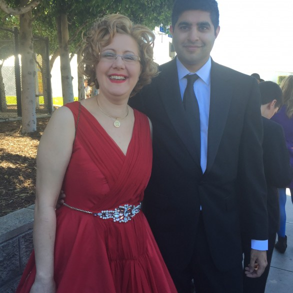 Nadia Shpachenko and Kabir Sehgal at the 58th Grammy Awards