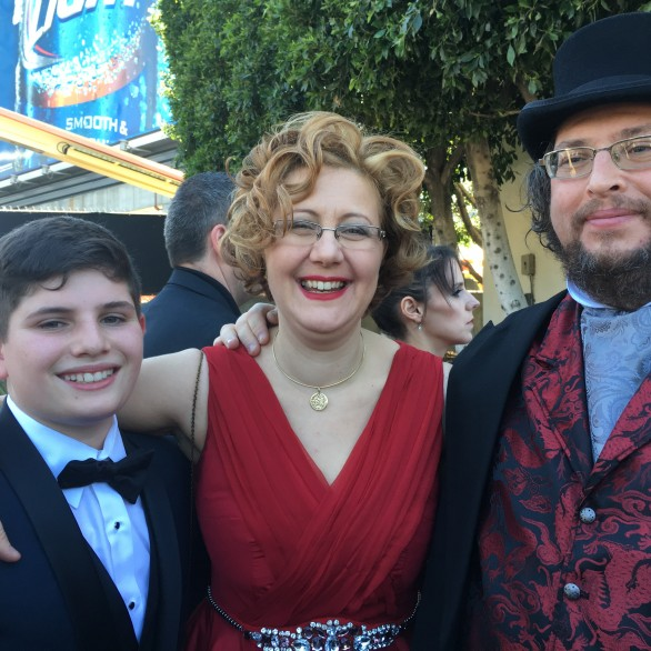 Jordan Rosen, Nadia Shpachenko, and Barry Werger at the 58th Grammy Awards