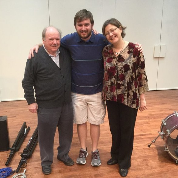 Shpachenko and Perry with former student Charles Parsons