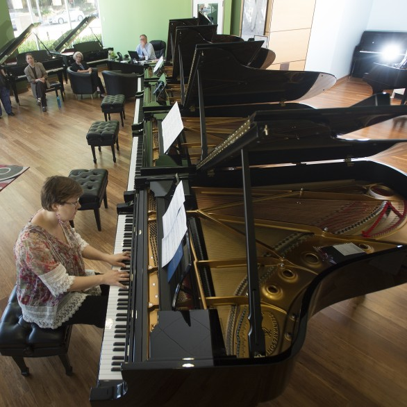 Nadia Shpachenko is selecting Steinway pianos for Cal Poly Pomona University