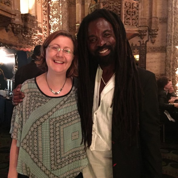 Nadia Shpachenko and Rocky Dawuni at the 58th Grammy Nominee Brunch, Los Angeles Chapter