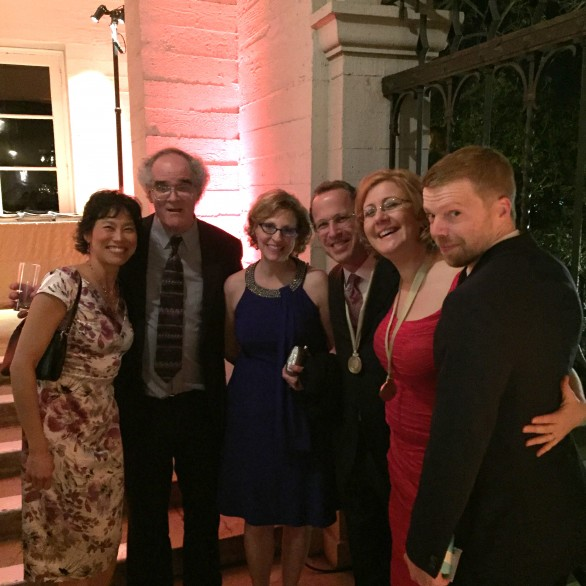 Genevieve Feiwen Lee, Tom Flaherty, Andrea Oser, David Alan Miller, Nadia Shpachenko, and Andrew Norman at the Grammy Nominee Reception