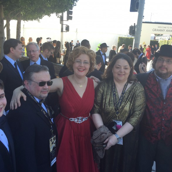 Jordan Rosen, Victor Ledin, Nadia Shpachenko, Marina Ledin, and Barry Werger at the 58th Grammy Awards